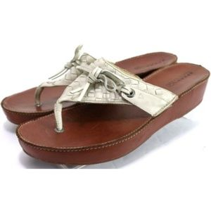Sperry Top-Sider Womens Wedge Thong Size 10 Woven